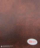 Cuero resistente de la capa de la PU de la abrasión para los muebles del sofá (800#)