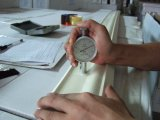 Moldeado de corona revestido de Gesso (blanco pintado, cornisa, moldeado de MDF)