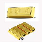 Movimentação do flash do USB da barra de ouro do presente do negócio de forma da alta qualidade
