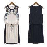 Женщины вскользь платья Sundress напечатали способ 2017 платья женщины шкафута нового лета, котор шифоновые сжатые одевают Vestido De Festa Робу Femme