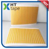 Cinta de doble cara de la red con el papel amarillo del desbloquear del papel cristal