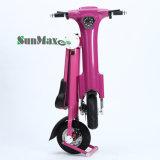 vélo électrique de pli rose de couleur de 36V 350W