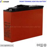 bateria 12V100ah acidificada ao chumbo terminal dianteira para o armazenamento solar