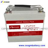 12V 50ah LiFePO4 배터리 연결코드 태양 제품 및 LED 빛을%s 산성 건전지 보충