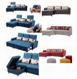 Italienisches faltendes Sofa-Bett, Gewebe PU-geklebtes ledernes Ecksofa-Bett