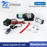 Treuil de service 4000lb-2 12V/24V de treuil électrique de treuil d'UTV