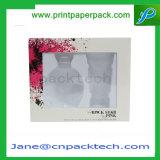 Rectángulo de empaquetado cosmético del PVC del perfume de la insignia de encargo de la impresión