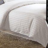 la literie 100% de piste de satin de coton du blanc 300t place le linge de lit pour l'hôtel d'étoile