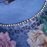 Ailinna 305516さんの女性の青写真のヒョウプリントが付いている花の網の服