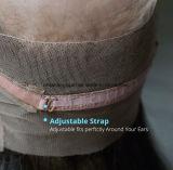 360 oído recto delantero del cordón al oído con el pelo del bebé