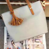 Подгоняйте стильную сумку повелительниц PU мешка Tote женщин кожаный с Tassel Sh129