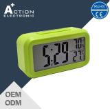 Hintergrundbeleuchtung-Temperatur-u. Feuchtigkeits-Alarmuhr Digital-LED mit Nachtlicht-Fühler