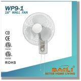 """16 chauds """" ventilateur du mur avec le double commutateur de traction de chaîne de caractères, fixé au mur"""