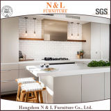 Gabinetes de cozinha contínuos baratos brancos do abanador do estilo de Ausrtalia