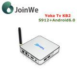 인조 인간 6.0 마시맬로 텔레비젼 상자 Yokatv 지능적인 Kb2 Ott IPTV 상자