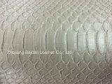 袋またはソファーまたは家具の家具製造販売業のためのワニのPrintting PVC総合的な革
