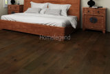 Suelo de madera dirigido capa multi negra del roble del color ambiental naturalmente y suelo de madera calentado