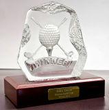 Trofeo cristalino de la concesión del balompié de los deportes para los recuerdos