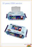 Wipes дешевого чувствительного младенца 90PCS влажные с по-разному размерами и пакетами