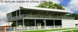 Duas barracas a dois níveis da ponte dobro das barracas das barracas da história para eventos do banquete de casamento