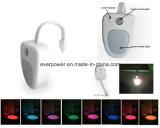 O movimento esperto colorido da lâmpada do toalete do diodo emissor de luz do sensor ativou (TLK601)