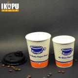Kälte-trinkendes Papiercup mit Plastikkappen