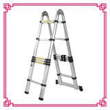 梯子の/Extensionの二重アルミニウム望遠鏡の梯子