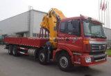 Le camion lourd de cargaison d'Auman 8X4 a monté avec la grue télescopique de 14 T
