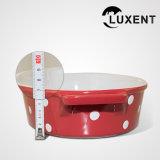 Bandeja oval coloreada Bakeware transportable de la hornada del esmalte de la porcelana