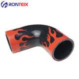 Hochleistungs- verstärkte der 90 Grad-Krümmer-Flammen-Kühler-Silikon-Schlauch