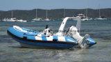 Aqualand 14feet 4.2m Rib Fishing Boat 또는 Rigid Inflatable Motor Boat (RIB420B)