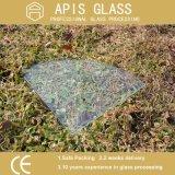 6 - 12 mm steuern Floatglas-Regal-Ecken-dekorative Glasviertelkreis-kleine Wand-Glasregal-abgehärtetes/ausgeglichenes Glas automatisch an