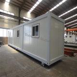 Casa prefabricada del envase del paquete plano de la alta calidad para el campo de trabajos forzados del campo petrolífero
