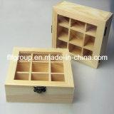 Caixa personalizada da caixa de madeira da alta qualidade revestimento Glassy para o charuto