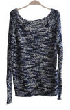 숙녀 100%Acrylic 공상 털실 니트 스웨터 스웨터