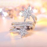 Juwelen van de Ring van de Manier van de Juwelen van het kristal de Echte Zilveren (NC0097)