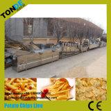 Patatas fritas dulces púrpuras onduladas congeladas comerciales que hacen la máquina