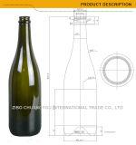 750ml темнота - зеленые бутылки вина бутылочного стекла вина Шампань (460)