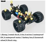1/10 Scale Electric RC Car Brushless 4WD Controle Remoto Black Body