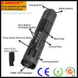 Recarregáveis de alumínio táticos da polícia popular Stun a lanterna elétrica