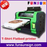Impressora Flatbed do Tshirt de Funsun do tamanho da alta qualidade A3 com um Dx5 1440dpi principal