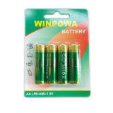 Батарея R6p хлорида цинка сухой батареи