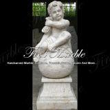 Statua di pietra di marmo Ms-210 dei bambini del calcio dell'oggetto d'antiquariato della statua del granito