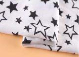 Cinco tela de rayon viscoso do teste padrão de estrelas 100 para a camisa/blusa /Dress