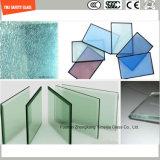 호텔 샤워를 위한 3-19mm 안전 건축 유리, 철사 유리, 박판으로 만드는 유리, 패턴 편평하거나 굽은 Tempered 안전 유리 또는 SGCC/Ce&CCC&ISO를 가진 분할