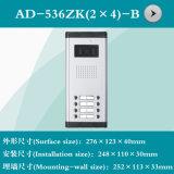 Interpréteur de commandes interactif visuel de téléphone de porte (AD-536ZK (2*4) - B)