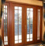 Porta revestida de madeira do Casement do PVC da película de cor do estilo clássico da alta qualidade para a casa de campo (PCD-005)