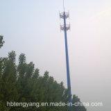 Башня радиосвязи пробки горячего DIP гальванизированная стальная одиночная/Monopole Поляк