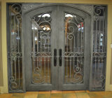 Portas da rua feitas sob encomenda do ferro da parte superior redonda da segurança
