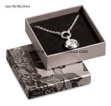 Caja de embalaje del regalo de papel de tamaño mediano simple gris de la joyería de Jy-Jb154 Matt para el collar + el pendiente